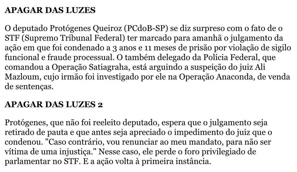Recorte da Folha, 20/10/14, na coluna de Mônica Bérgamo. http://www1.folha.uol.com.br/…/…/191468-monica-bergamo.shtml