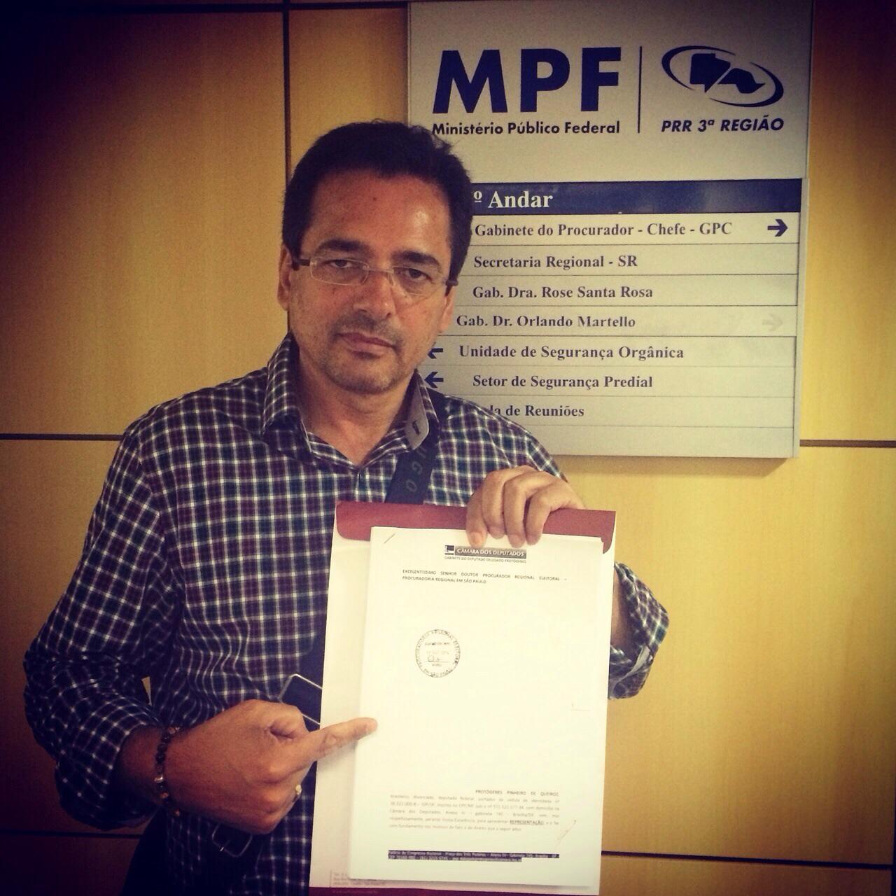 Minha votação para eleição de Deputado Federal, foi fraudada, e está sob investigação sigilosa no MPF/SP.