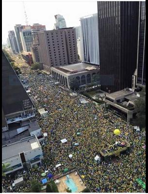 MANIFESTAÇÕES POPULARES NO BRASIL EM 16 de Agosto de 2015. Ao povo brasileiro:  Fui às manifestações apoiar a União do povo em prol de melhoras e defender a continuidade da #OperaçãoSatiagraha onde tudo começou.